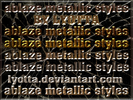 Ablaze metallic styles for Photoshop