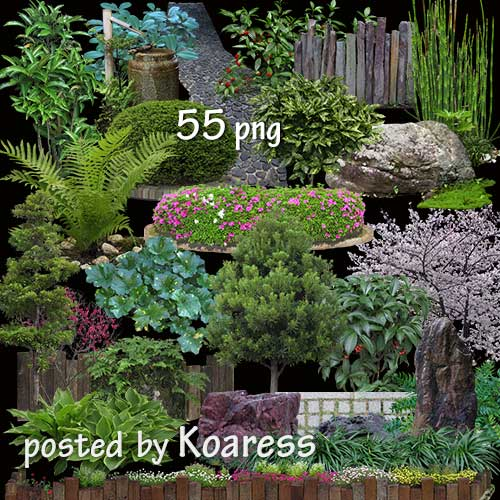 Зеленый куст, пейзаж, лист, пейзаж, трава png   PNGWing   500x500