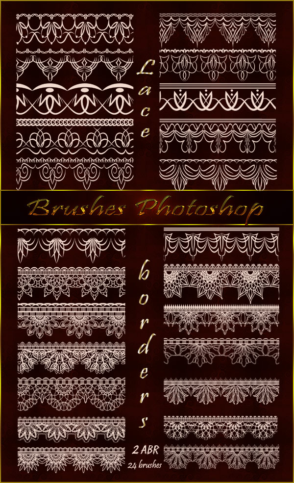 Photoshop brushes - Laces